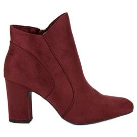 Kylie Botas de camurça elegante vermelho
