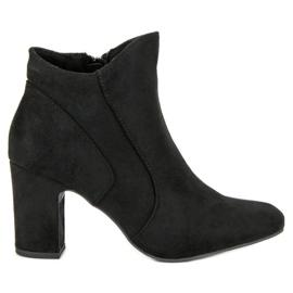 Kylie Botas de camurça elegante preto