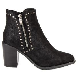 Kylie Botas pretas de tornozelo preto