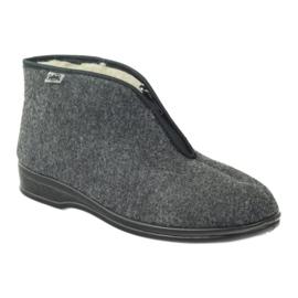 Cinza Sapatos masculinos Befado chinelos quentes 100M047