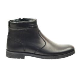 Botas masculinas Riko com zíper 825 preto