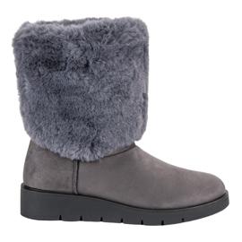 Kylie cinza Calçado de inverno na moda