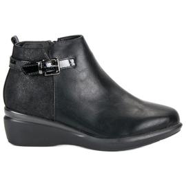 Kylie Botins confortáveis de tornozelo preto
