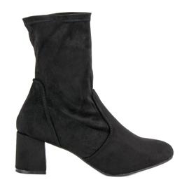 Kylie Botas de Camurça Slip-on preto