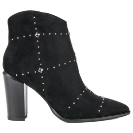 Kylie Botas pretas de camurça preto