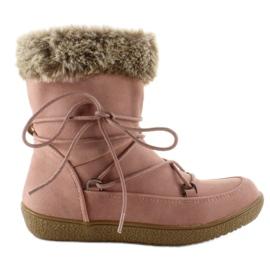 -de-rosa Meia botas para crianças com pele K1647201 Rose