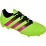 Sapatos de futebol adidas Ace 16.3 FG / AG M Couro AF5162 verde verde
