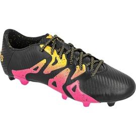 Sapatos de futebol adidas X 15.3 FG / AG M S74633 preto preto