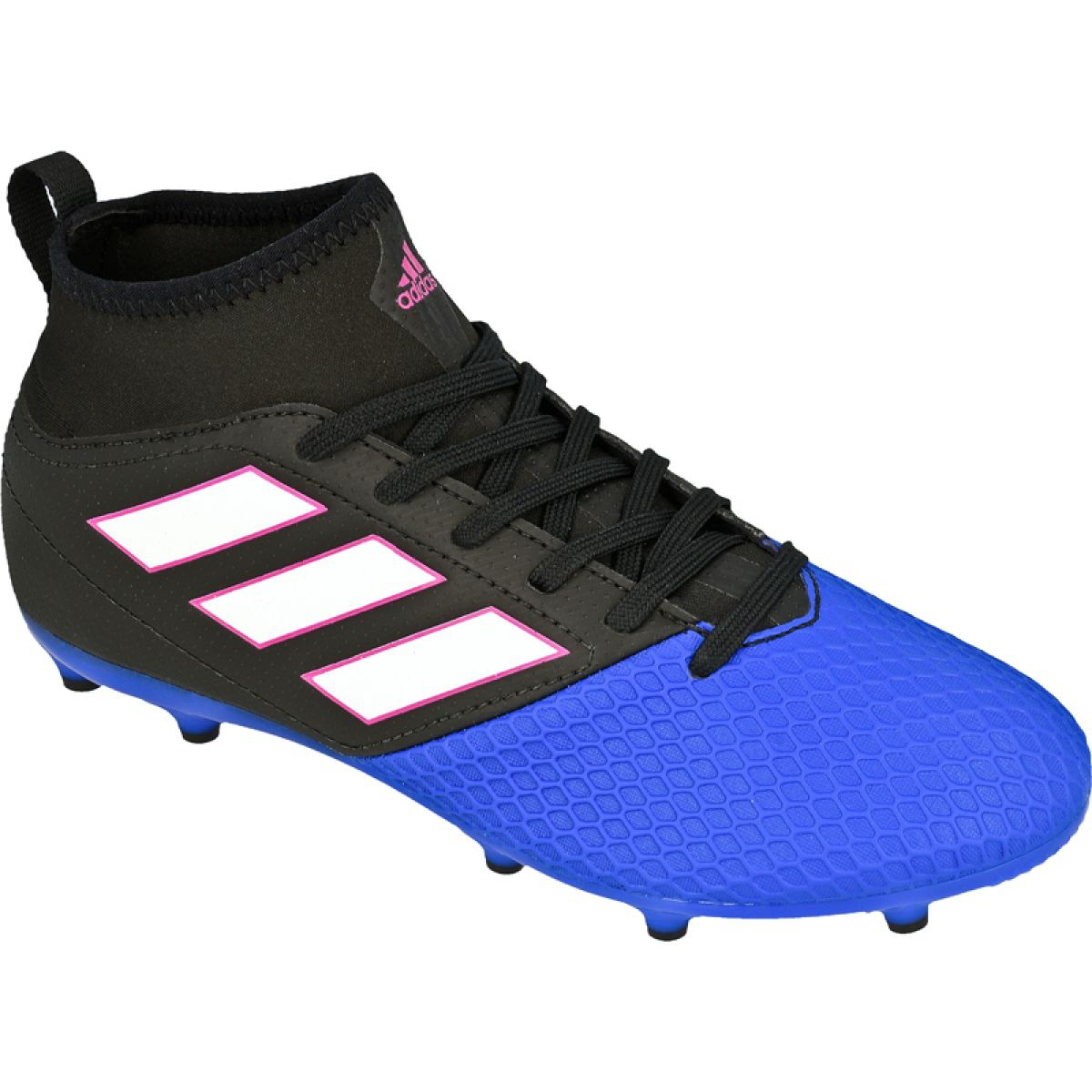 Adidas Ace 17.3 Fg Jr BA9234 chuteiras preto, azul preto