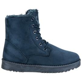 Forever Folie azul Sapatos De Camurça Quente