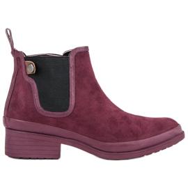 Kylie Botas de botas de Jodhpur vermelho