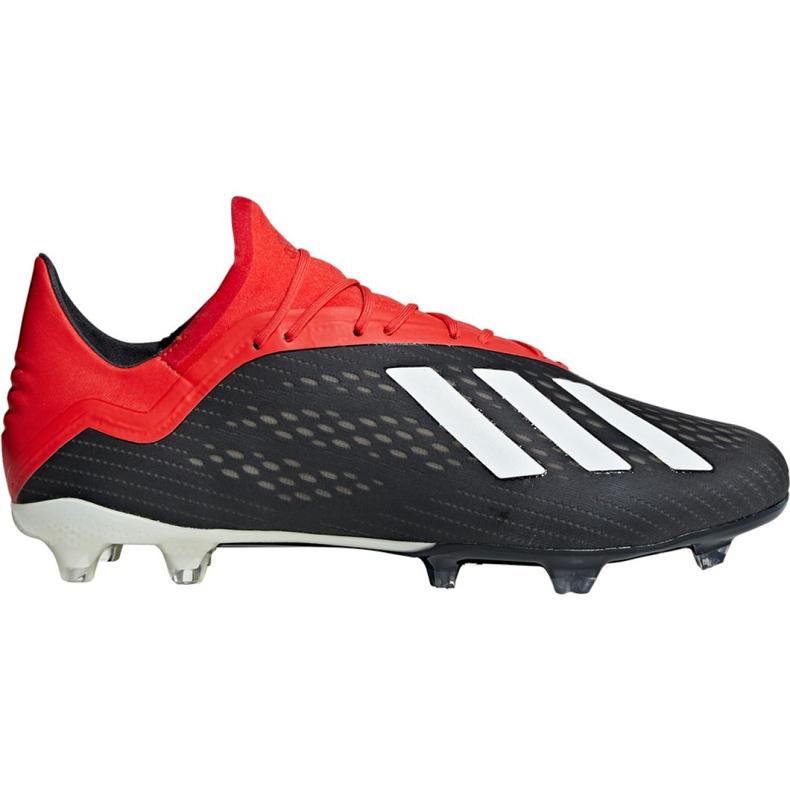 Sapatos de futebol adidas X 18.2 Fg M BB9362 preto preto