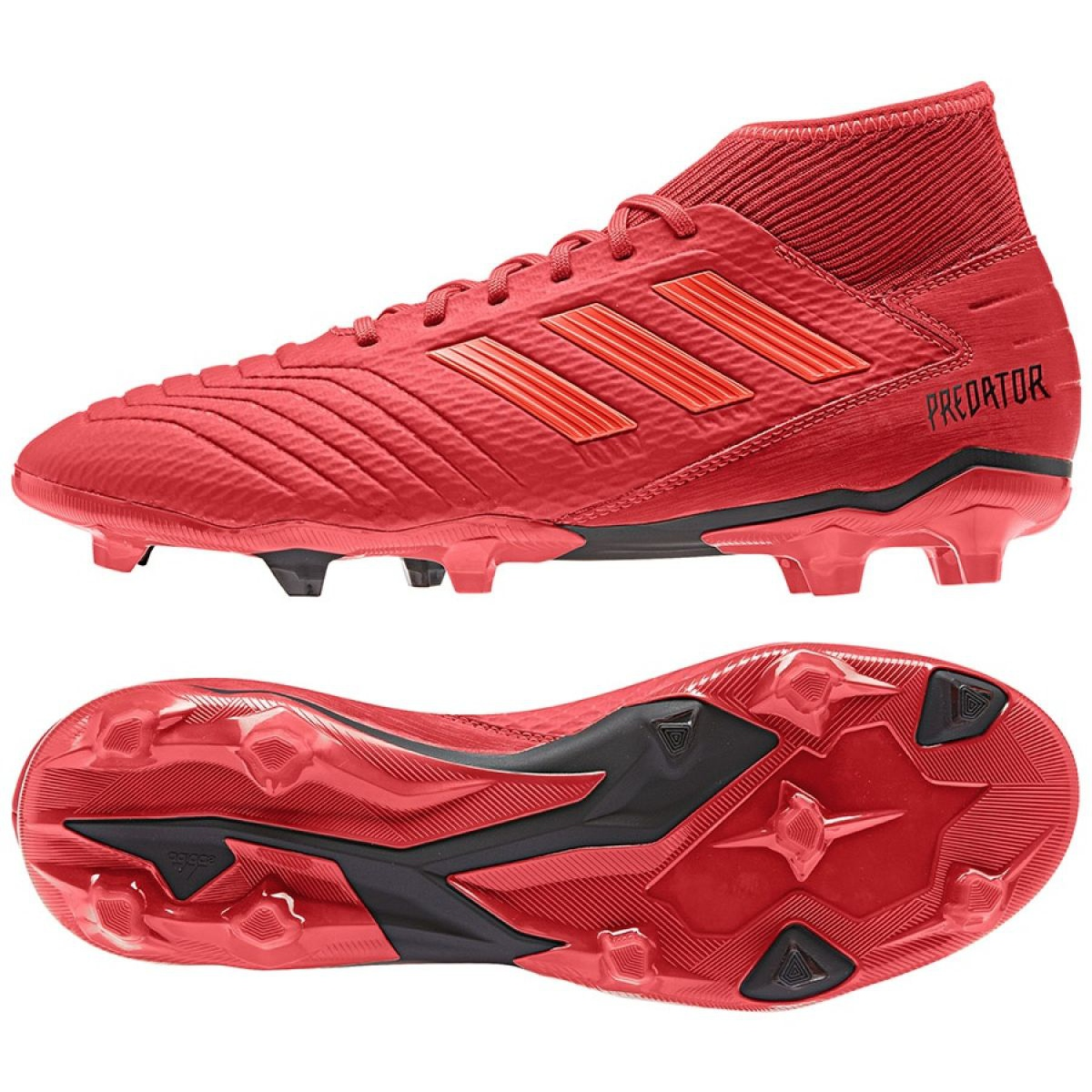 Chuteiras de futebol adidas Predator 19.3 Fg M BB9334 vermelho multicolorido