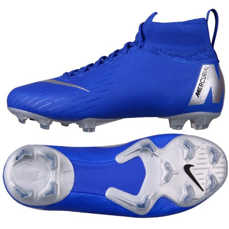 Sapatos de futebol Nike Mercurial Superfly 6 Elite Fg Jr AH7340-400 azul azul
