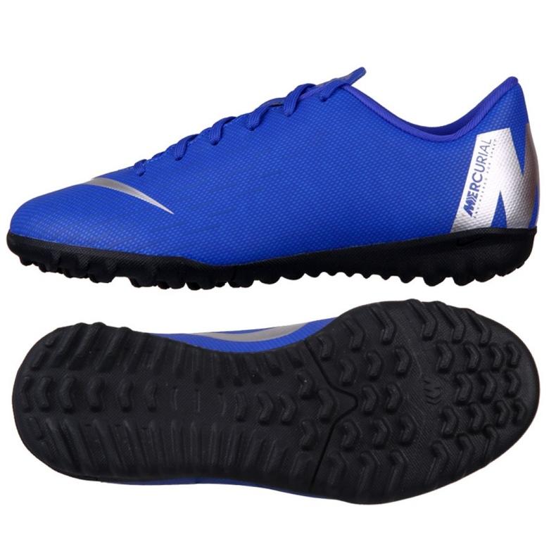 Academia Nike Mercury VaporX 12 Gs Tf Jr AH7342-400 azul azul