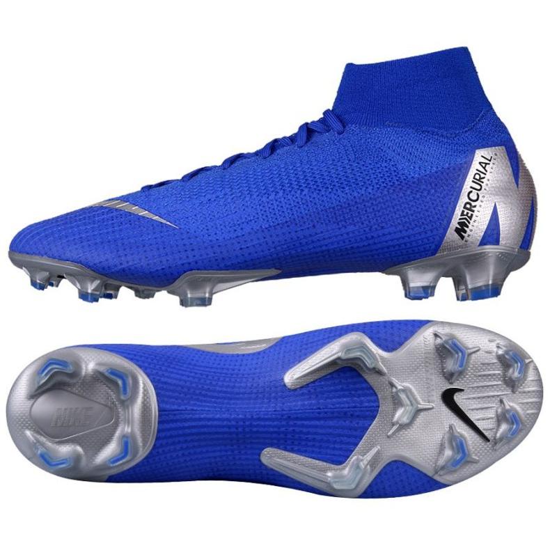 Sapatos de futebol Nike Mercurial Superfly 6 Elite FG M AH7365-400 azul