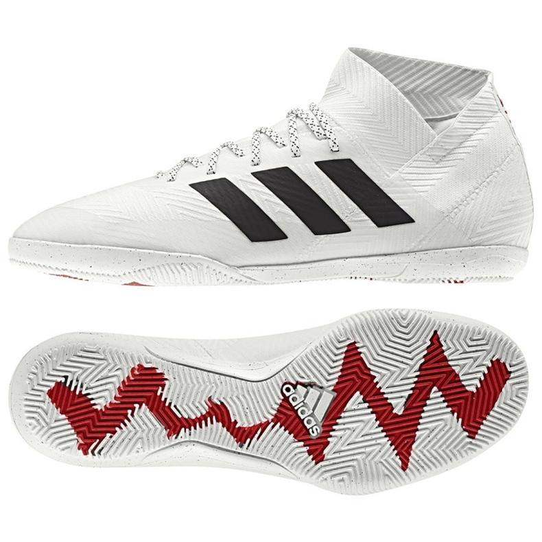 Sapatos de interior adidas Nemeziz 18.3 In M D97989 branco branco