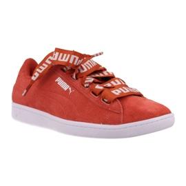Vermelho Sapatos Puma Vikky Ribbon Negrito Temperado W 365312 02