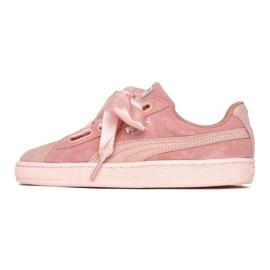 -de-rosa Sapatos Puma Camurça Coração Pebble W 365210 01