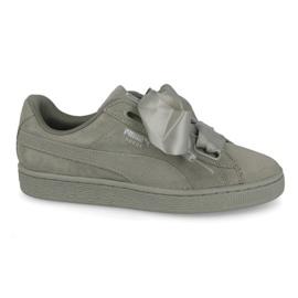 Verde Sapatos Puma Camurça Coração Pebble W 365210 02