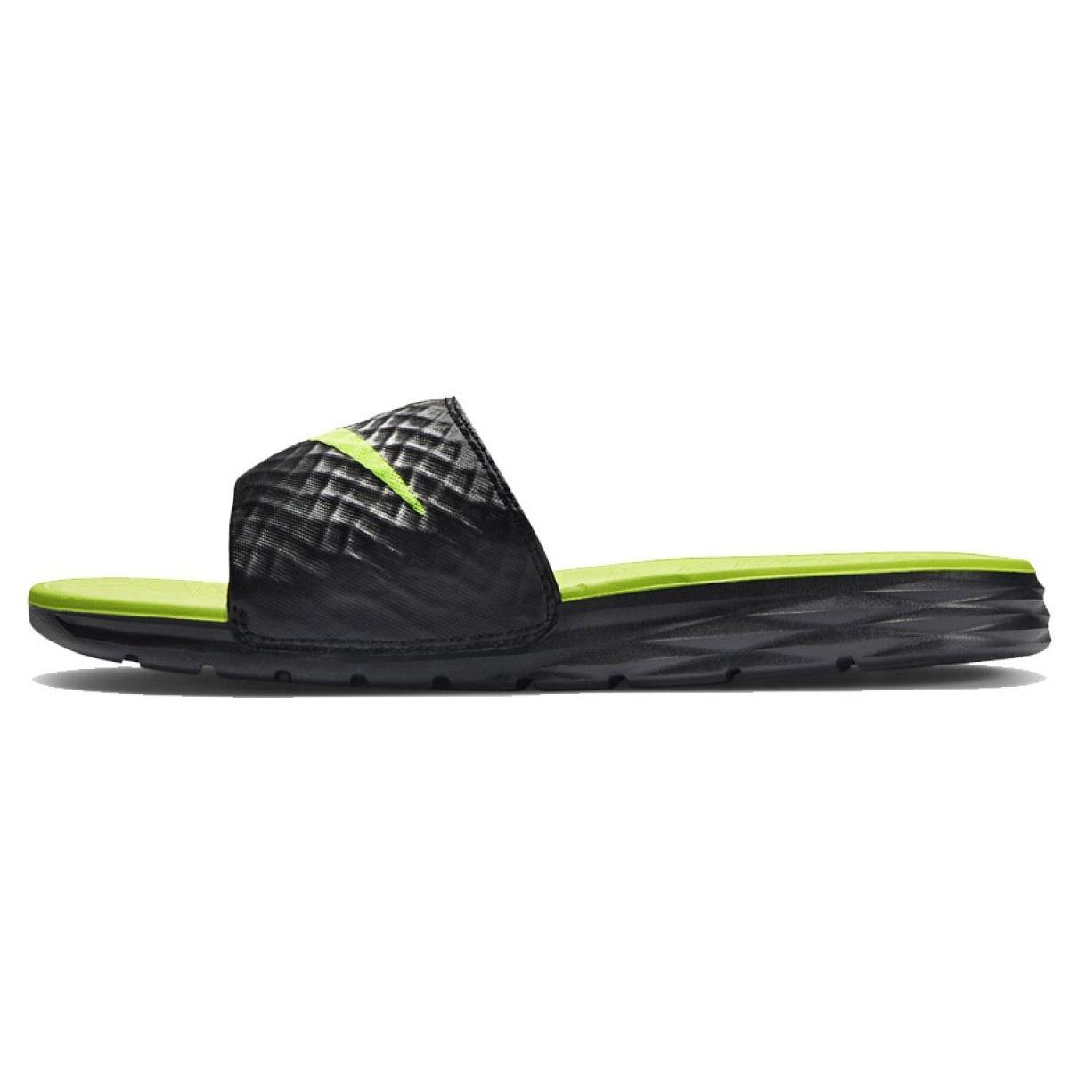 838e1fdbe3 Preto Chinelos Nike Benassi Solarsoft Slide 705474-070 - ButyModne.pl
