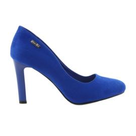 Sergio Leone azul Bombas de camurça 1457