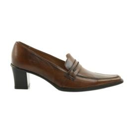 Sapatos de couro Eksbut 864 marrom