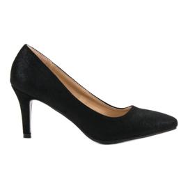 Sapatos de brocado Vinceza preto