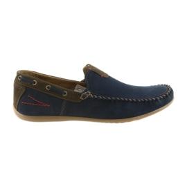 Riko mocassim sapatos homens azul 781