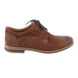 Marrom Sapatos masculinos de baixo corte Riko 831