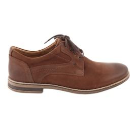 Sapatos masculinos de baixo corte Riko 831 marrom