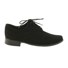 Preto Sapatos de comunhão de camurça de crianças sapatos Miko