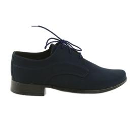 Sapatos de comunhão de camurça de crianças sapatos Miko marinha