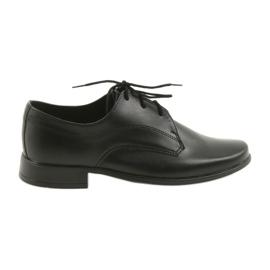 Miko sapatos calçados infantis meninos comunhão preto
