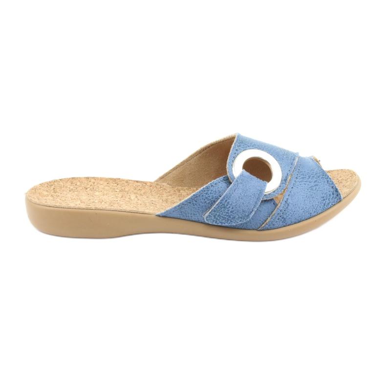 Sapatos femininos Befado pu 265D015 azul