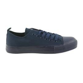 Sapatos masculinos amarrados tênis azul American Club LH05 marinha