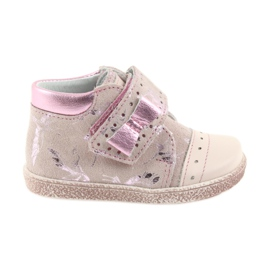 Sapatinhos de velcro Sapatinhos de bebê Ren But 1535 pink flamingos -de-rosa