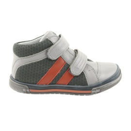 Sapatos Boote Botas de velcro Ren But 3225 cinza / laranja