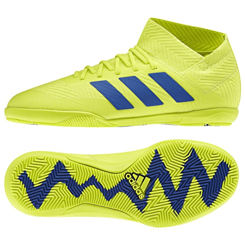 Sapatos de interior adidas Nemeziz 18.3 In Jr CM8512 amarelo amarelo