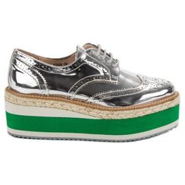 Corina Sapatos de cunha de moda cinza