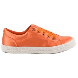 Kylie Tênis De Cetim laranja