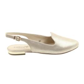 Sapatos de ouro das mulheres Caprice lordsy 29400 amarelo