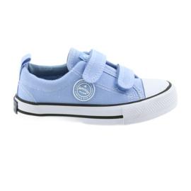 Tênis de velcro American Club LH50 azul calçados infantis