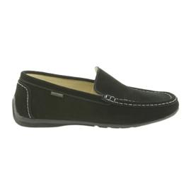 Preto Sapatos de couro masculinos de mocassins American Club 01/2019