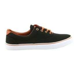 American Club Sapatos masculinos sapatilhas pretas LH03