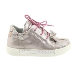 Ren But -de-rosa Sapatos de couro Reno 3303 rosa pérola