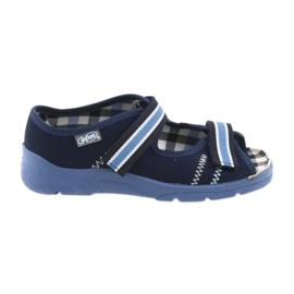 Sandálias sapatos infantis Velcro Befado 969x101 azul marinho