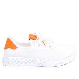 Calçado desportivo branco e laranja NB281 Laranja