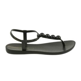 Preto Ipanema sandálias sapatos femininos chinelos com bolas 82517