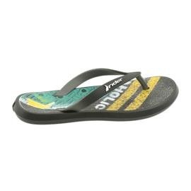 Sapatos infantis de chinelos Rider 82563 preto